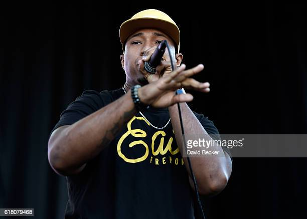 Jay R Beatbox performs during Global Citizen's 'Show Up and Vote' concert at the World Market Center on October 25 2016 in Las Vegas Nevada