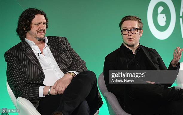 Jay Rayner Journalist Writer Broadcaster Musician and Sean Adams Founder Drowned in Sound during the Somethin' Else presentsWe are all critics...