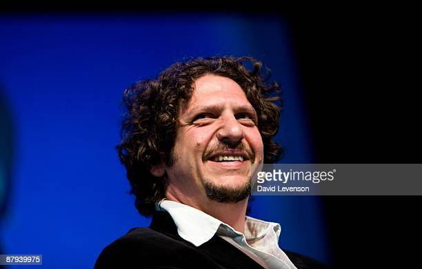 Jay Rayner restaurant critic of The Observer at the Hay Festival on May 23 2009 in HayonWye Wales