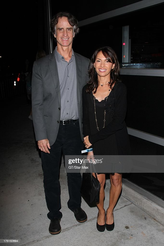 <a gi-track='captionPersonalityLinkClicked' href=/galleries/search?phrase=Jay+Roach&family=editorial&specificpeople=2576157 ng-click='$event.stopPropagation()'>Jay Roach</a> and <a gi-track='captionPersonalityLinkClicked' href=/galleries/search?phrase=Susanna+Hoffs&family=editorial&specificpeople=234637 ng-click='$event.stopPropagation()'>Susanna Hoffs</a> sighted on July 31, 2013 in Los Angeles, California.