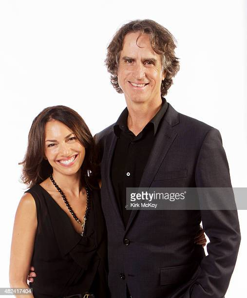 Jay Roach and wife Susanna Hoffs are photographed for Los Angeles Times on August 29 2011 in Los Angeles CA PUBLISHED IMAGE CREDIT MUST BE Kirk...