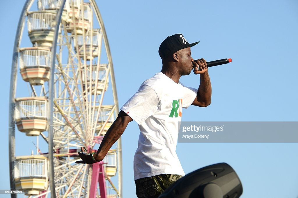 Jay Rock performs at Rock The Bells Music Festival at NOS Events Center on August 18, 2012 in San Bernardino, California.