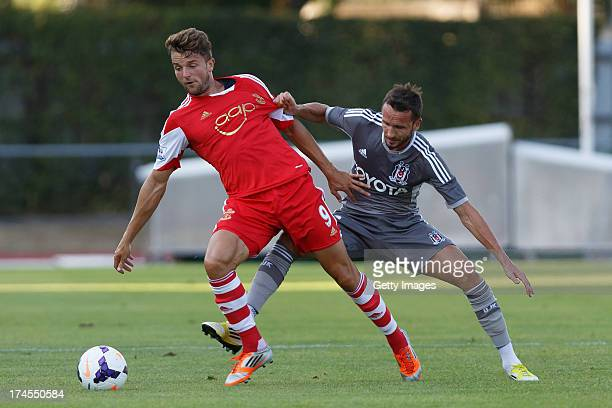 Jay Rodriguez of Southampton and Tomas Sivok of Besiktas Istanbul fighting for the ball during the preseason friendly match between Southampton FC...