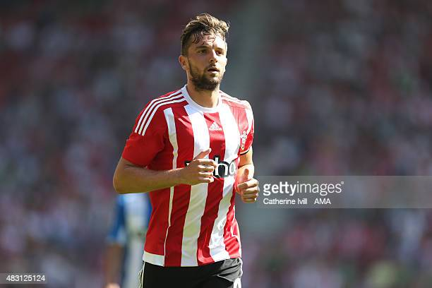 Jay Rodriguez of Southampton during the preseason friendly between Southampton and Espanyol at St Mary's Stadium on August 2 2015 in Southampton...
