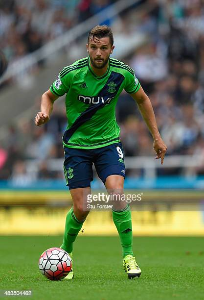 Jay Rodriguez of Southampton in action during the Barclays Premier League match between Newcastle United and Southampton at St James Park on August 9...