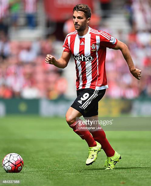 Jay Rodriguez of Southampton in action during the Barclays Premier League match between Southampton and Everton at St Mary's Stadium on August 15...