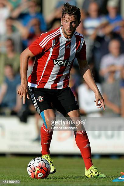 Jay Rodriguez of Southampton runs with the ball during the friendly match between KVV Quick 1920 and FC Southampton at Sportpark De Vondersweijde on...