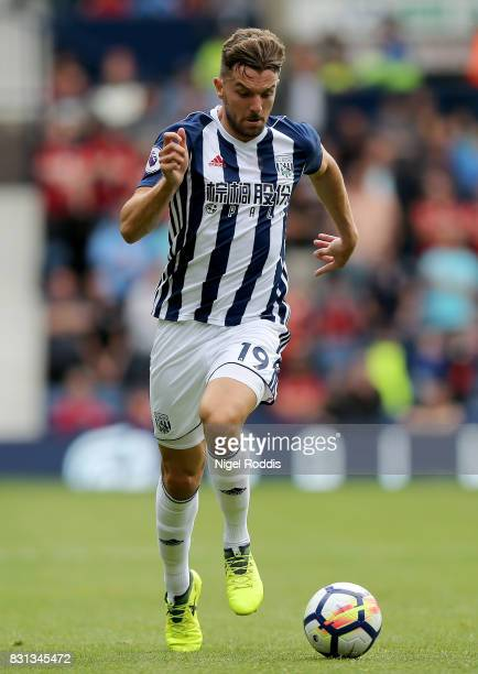 Jay Rodriguez of West Bromwich Albion during the Premier League match between West Bromwich Albion and AFC Bournemouth at The Hawthorns on August 12...