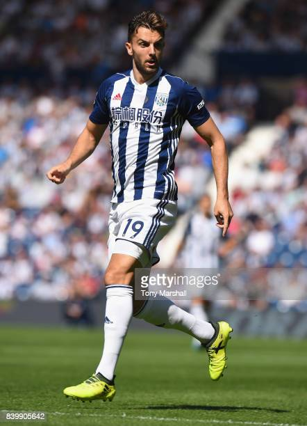 Jay Rodriguez of West Bromwich Albion during the Premier League match between West Bromwich Albion and Stoke City at The Hawthorns on August 27 2017...