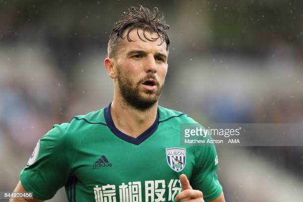 Jay Rodriguez of West Bromwich Albion during the Premier League match between Brighton and Hove Albion and West Bromwich Albion at Amex Stadium on...