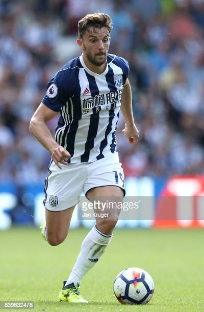 Jay Rodriguez of West Bromwich Albion in action during the Premier League match between West Bromwich Albion and Stoke City at The Hawthorns on...