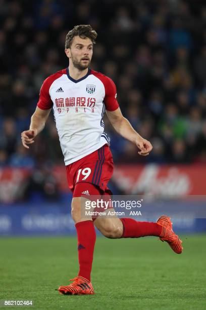 Jay Rodriguez of West Bromwich Albion in action during the Premier League match between Leicester City and West Bromwich Albion at King Power Stadium...