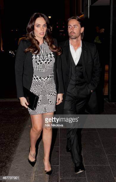Jay Rutland and Tamara Ecclestone are seen arriving at the Continental Hotel Park Lane on February 7 2014 in London England