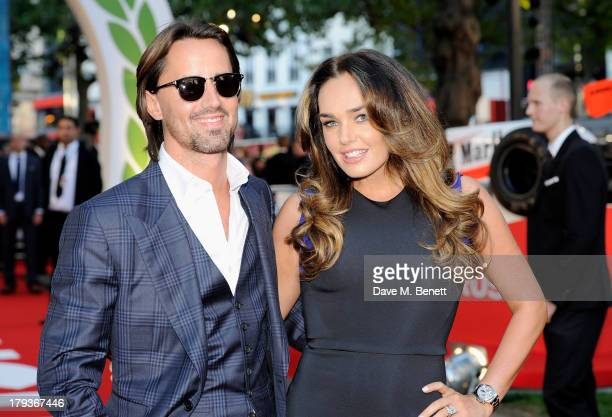 Jay Rutland and Tamara Ecclestone attend the World Premiere of 'Rush' at Odeon Leicester Square on September 2 2013 in London England