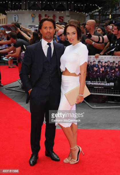 Jay Rutland and Tamara Ecclestone attend the World Premiere of 'The Expendables 3' at Odeon Leicester Square on August 4 2014 in London England