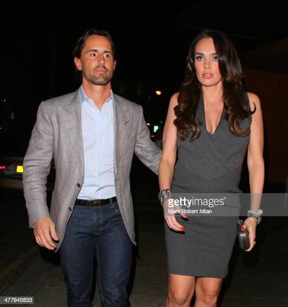 Jay Rutland and Tamara Ecclestone leaving Zuma restaurant on March 11 2014 in London England