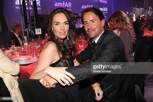 Jay Rutland and wife Tamara Ecclestone attend amfAR's 21st Cinema Against AIDS Gala Presented By WORLDVIEW BOLD FILMS and BVLGARI at Hotel du...