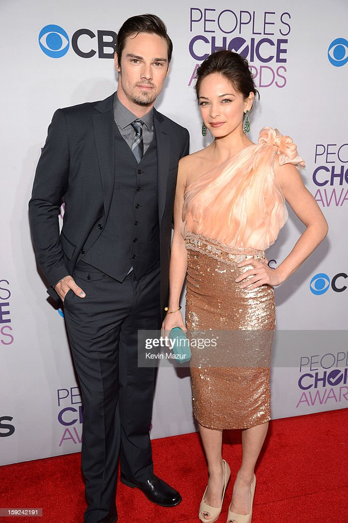 Jay Ryan and Kristin Kreuk attend the 2013 People's Choice Awards at Nokia Theatre L.A. Live on January 9, 2013 in Los Angeles, California.