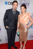 Jay Ryan and Kristin Kreuk attend the 2013 People's Choice Awards at Nokia Theatre LA Live on January 9 2013 in Los Angeles California