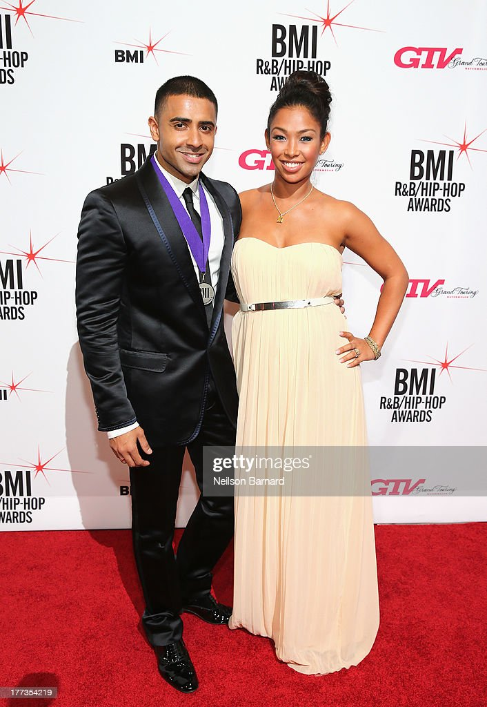 Jay Sean (L) and Thara Prashad attend the 2013 BMI R&B/Hip-Hop Awards at Hammerstein Ballroom on August 22, 2013 in New York City.
