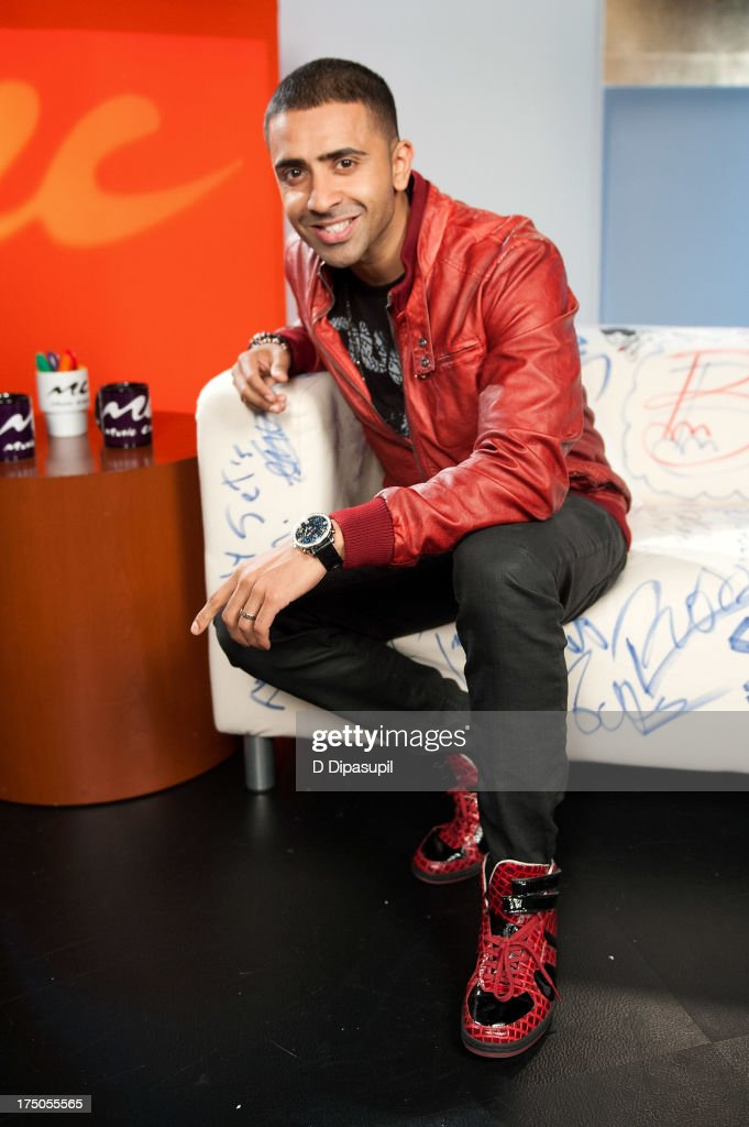 <a gi-track='captionPersonalityLinkClicked' href=/galleries/search?phrase=Jay+Sean&family=editorial&specificpeople=215091 ng-click='$event.stopPropagation()'>Jay Sean</a> visits 'U&A' at Music Choice on July 30, 2013 in New York City.