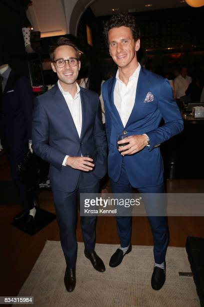 Jay Serpe and Sergio Pawlak attend Todd Snyder x Akin's Army Collaboration Launch at Todd Snyder Flagship Store on August 17 2017 in New York City