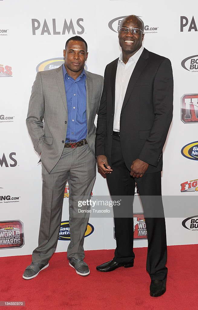 Jay Silva and Cheick Kongo arrive at the 2011 Fighters Only World Mixed Martial Arts Awards on November 30, 2011 in Las Vegas, Nevada.
