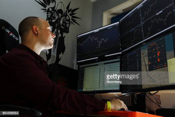 Jay Smith a cryptocurrency trader at eToro USA LLC poses for a photograph at his home in Basingstoke UK on Tuesday Sept 26 2017 Smith the No 1...