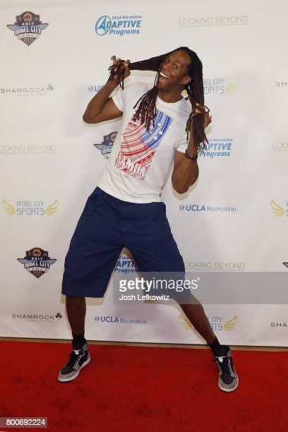 Jay 'Stretch' Middleton attends the 3rd Annual Celebrity Wheelchair Basketball Game at the John Wooden Center on June 24 2017 in Los Angeles...