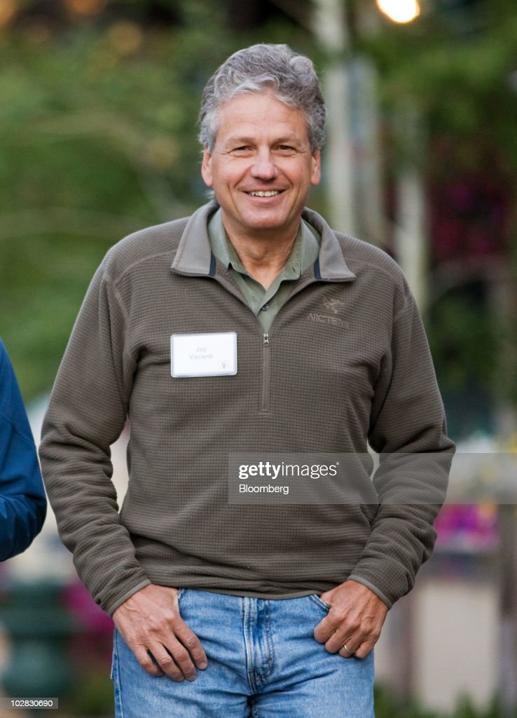 Jay Vacanti, surgeon-in-chief at Massgeneral Hospital for Children, arrives for morning sessions at the 28th annual Allen & Co. Media and Technology Conference in Sun Valley, Idaho, U.S., on Saturday, July 10, 2010. Allen & Co., the boutique New York investment bank, invites executives from start-ups in media and technology to mingle with bankers and moguls at the event. The mixture, along with presentations trumpeting new business models, has led to acquisitions and investments in the past. Photographer: Matthew Staver/Bloomberg via Getty Images