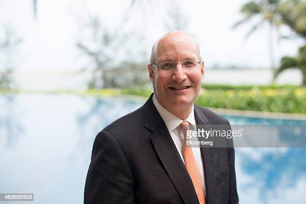 Jay Walder chief executive officer of MTR Corp poses for a photograph after a Bloomberg Television interview at the Boao Forum for Asia in Boao...