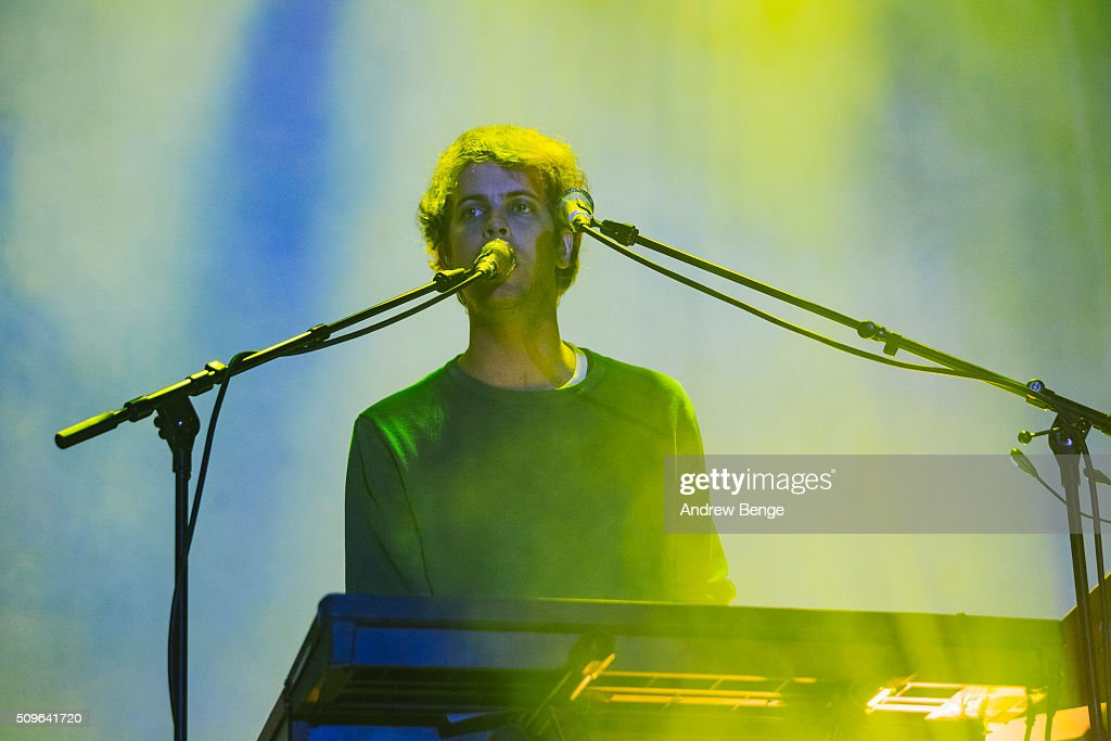 Jay Watson of Tame Impala performs on stage at Manchester Arena on February 11, 2016 in Manchester, England.
