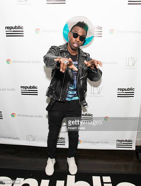 Jay Watts attends the annual Republic Records holiday party hosted by Ketel One vodka on December 10 2015 in New York City