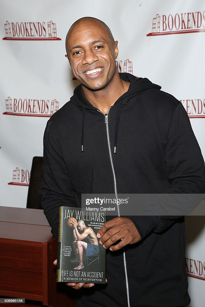 Jay Williams signs copies of his new book 'Life Is Not An Accident' at Bookends Bookstore on January 26 2016 in Ridgewood New Jersey