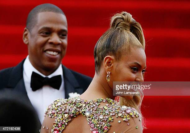 Jay Z and Beyonce attend 'China Through The Looking Glass' Costume Institute Benefit Gala at Metropolitan Museum of Art on May 4 2015 in New York City