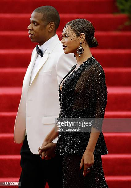Jay Z and Beyonce Knowles attend the 'Charles James Beyond Fashion' Costume Institute Gala at the Metropolitan Museum of Art on May 5 2014 in New...