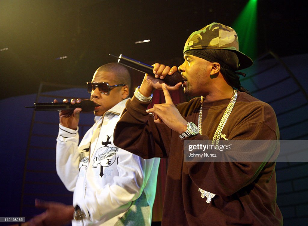Jay Z and Memphis Bleek during Jay Z Performs on 106 & Park with Nas, Pharrell and Timbaland - November 8, 2006 at BET Studios in New York City, New York, United States.