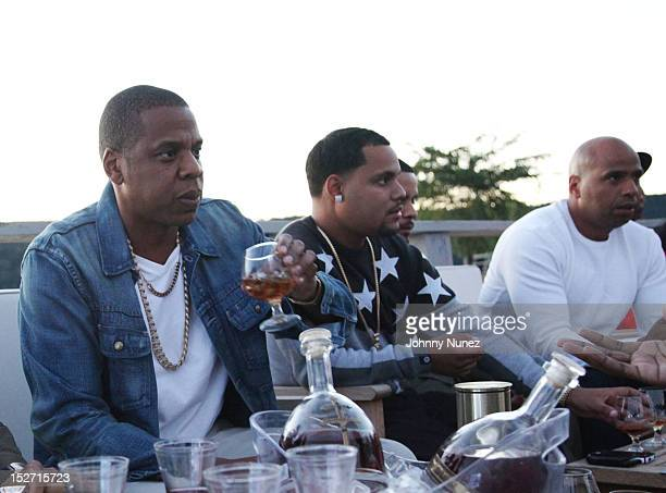 Jay Z and 'OG' Juan Perez attend the JayZ And Beyonce Summer Ends With D'USSE Cognac Cocktails Celebration at La Marina Restaurant Bar Beach Lounge...