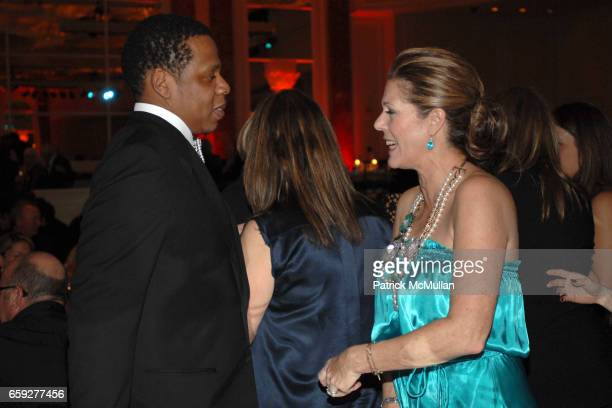 Jay Z and Rita Wilson attend Unforgettable Evening Benefiting The Entertainment Industry Foundation at Beverly Wilshire Hotel on February 10 2009 in...