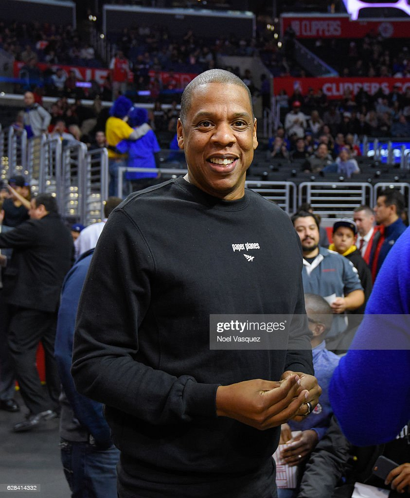 Jay Z attends basketball game between the Golden State Warriors and the Los Angeles Clippers at Staples Center on December 7, 2016 in Los Angeles, California.