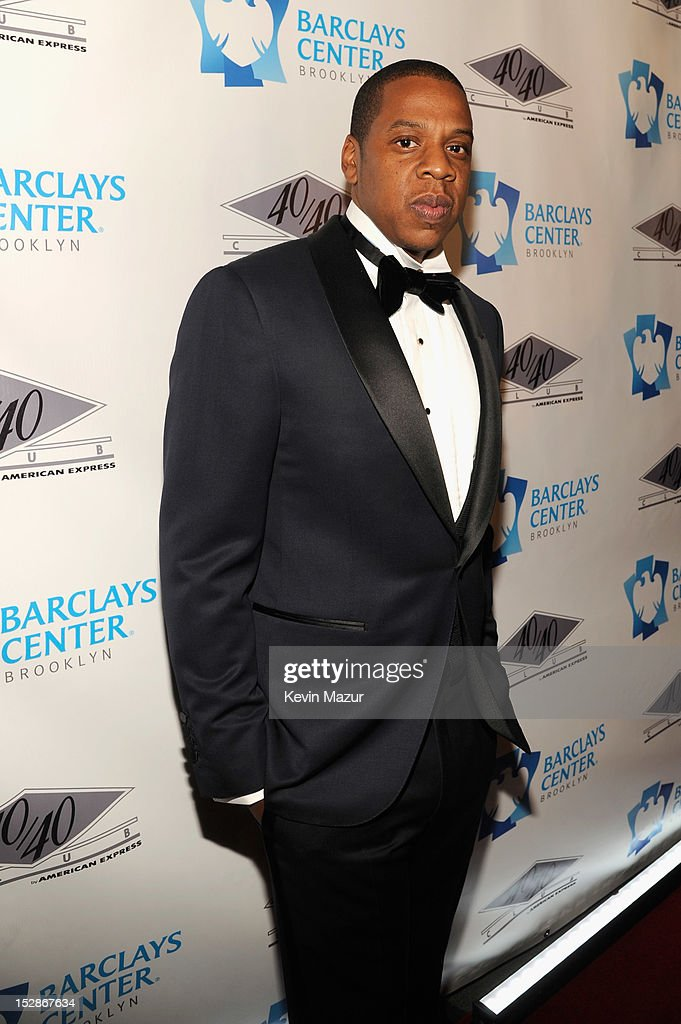 Jay- Z attends the grand opening of the 40/40 Club at Barclays Center on September 27, 2012 in the Brooklyn borough of New York City.