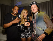 Jay Z Beyonce and Win Butler of Arcade Fire attend the Tidal launch event #TIDALforALL at Skylight at Moynihan Station on March 30 2015 in New York...