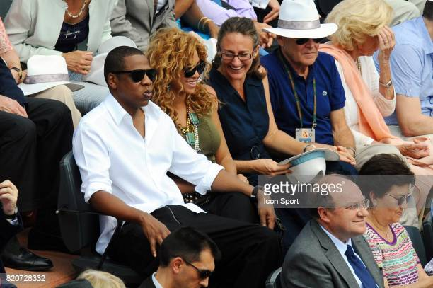 Jay Z / BEYONCE / Mary PIERCE Finale Simple Messieurs Roland Garros 2010