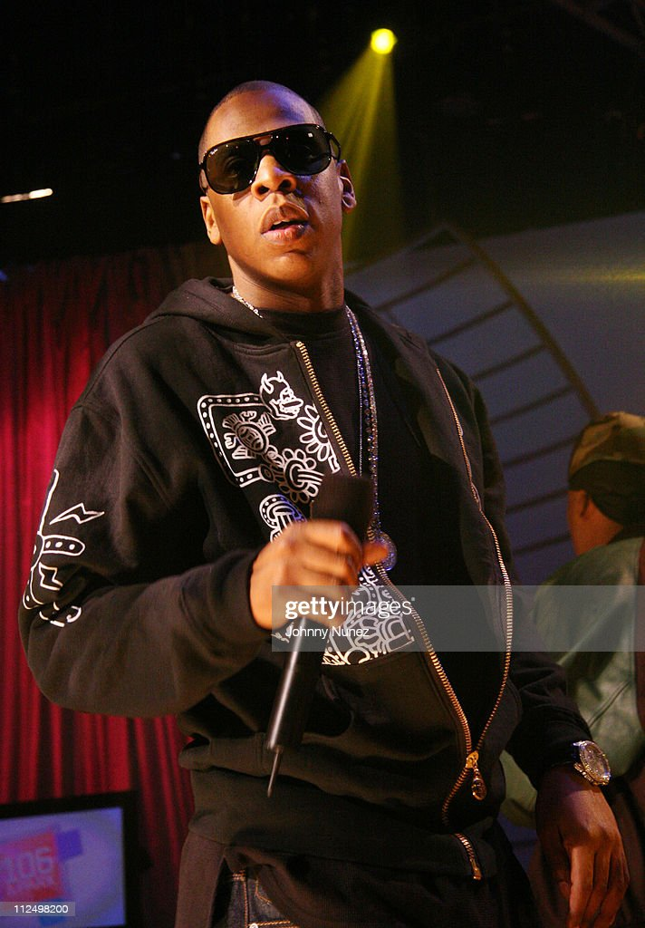 Jay Z during Jay Z Performs on 106 & Park with Nas, Pharrell and Timbaland - November 8, 2006 at BET Studios in New York City, New York, United States.