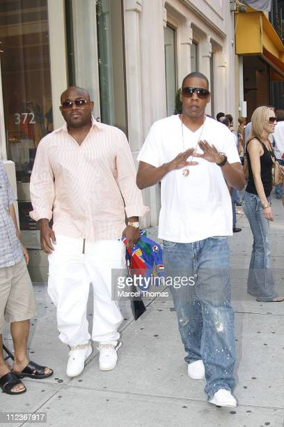 Jay Z during Sean Combs Adriana Lima and JayZ Celebrate Italy's World Cup Win Outside Cipriani's Restaurant July 9 2006 at Soho in New York City New...