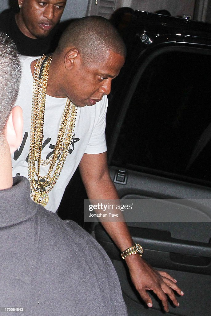 Jay Z is sighted on August 17, 2013 in Miami Beach, Florida.
