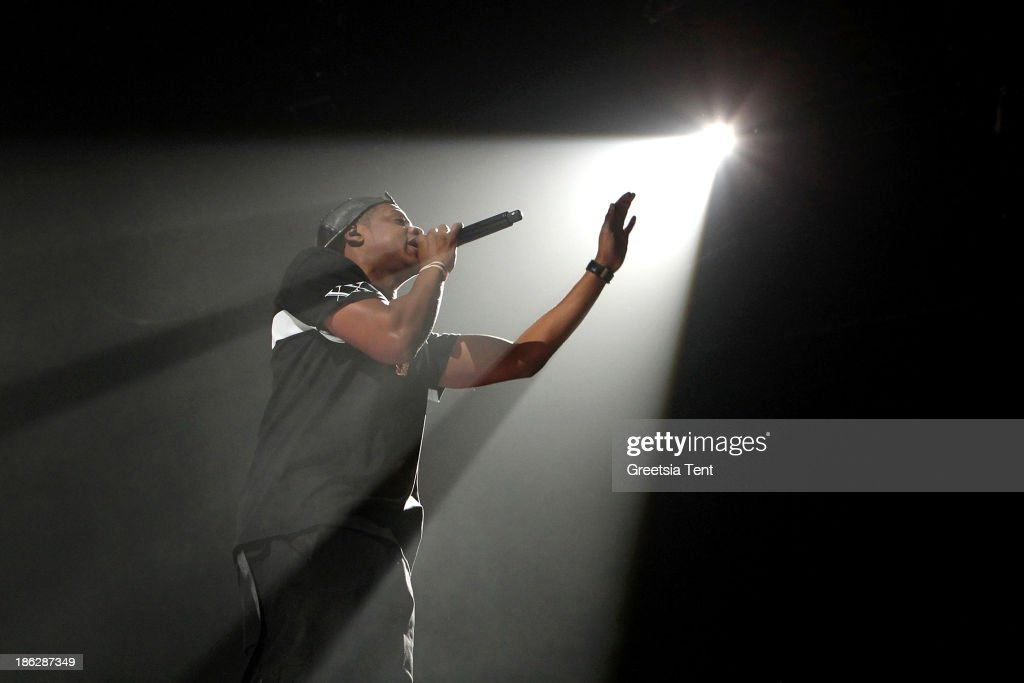Jay Z performs at the Ziggo Dome on October 29, 2013 in Amsterdam, Netherlands.