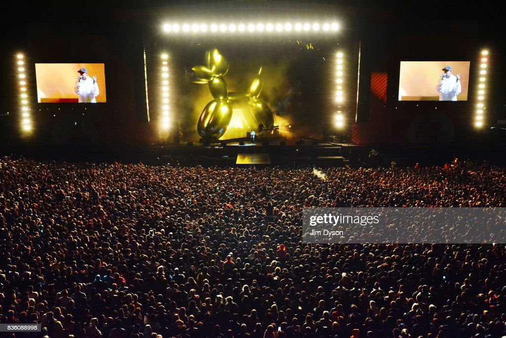 Jay Z performs live on stage during V Festival 2017 at Hylands Park on August 20, 2017 in Chelmsford, England.