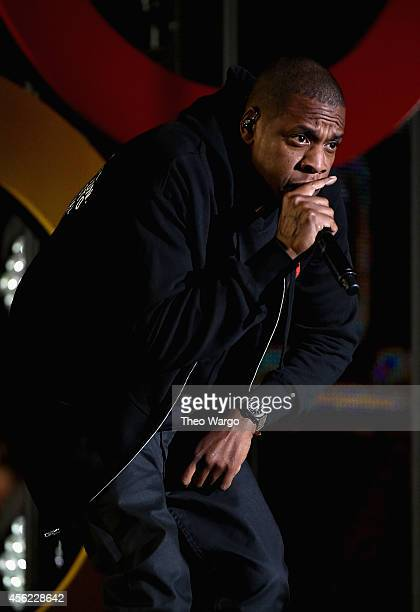 Jay Z performs onstage at the 2014 Global Citizen Festival to end extreme poverty by 2030 in Central Park on September 27 2014 in New York City