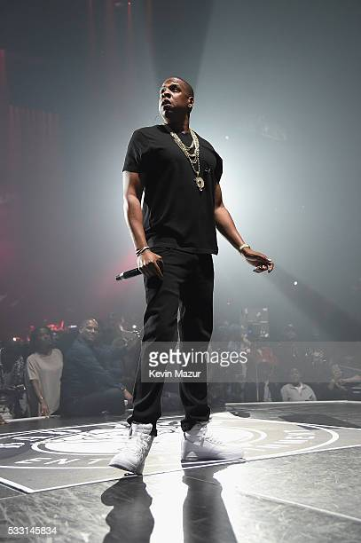 Jay Z performs onstage during the Puff Daddy and The Family Bad Boy Reunion Tour presented by Ciroc Vodka And Live Nation at Barclays Center on May...